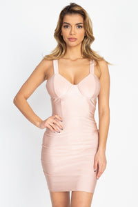 Satin Bustier Mini Dress - Boujee Boutique Incorporated