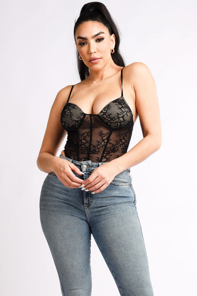 Lace Corset Bodysuit - Boujee Boutique Incorporated