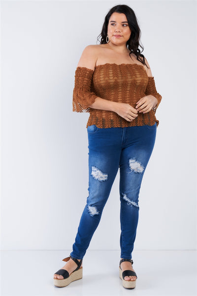 Off The Shoulder Plus Size Top - Boujee Boutique Incorporated