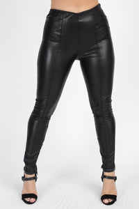 High Waist Faux Leather Pants - Boujee Boutique Incorporated