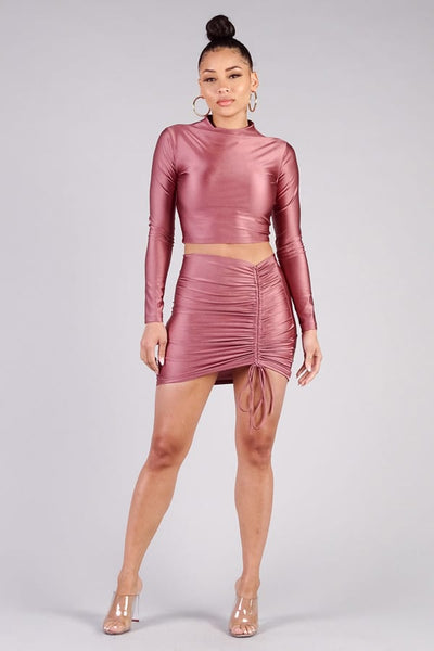 Sexy Ruched Mini Pencil Skirt - Boujee Boutique Incorporated