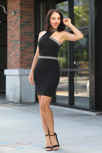 Halter Neck Body-con Dress