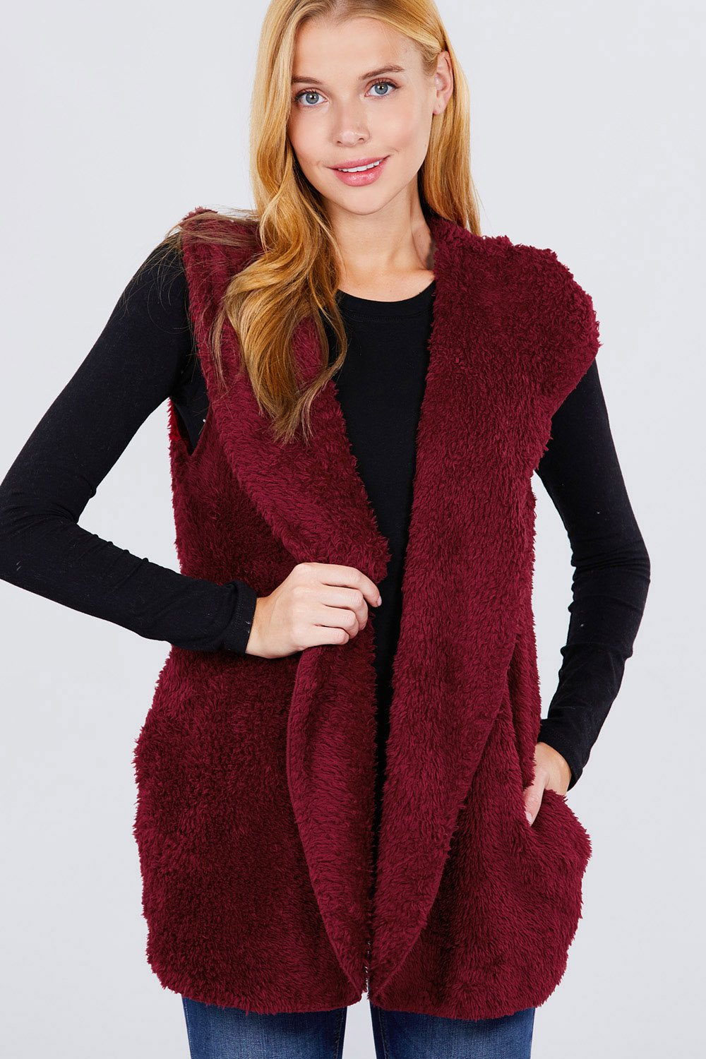 Faux Fur Fluffy Vest - Boujee Boutique Incorporated