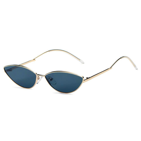 FLINT | S3012 - Small True Retro Vintage Slim Metal Sunglasses - Boujee Boutique Incorporated