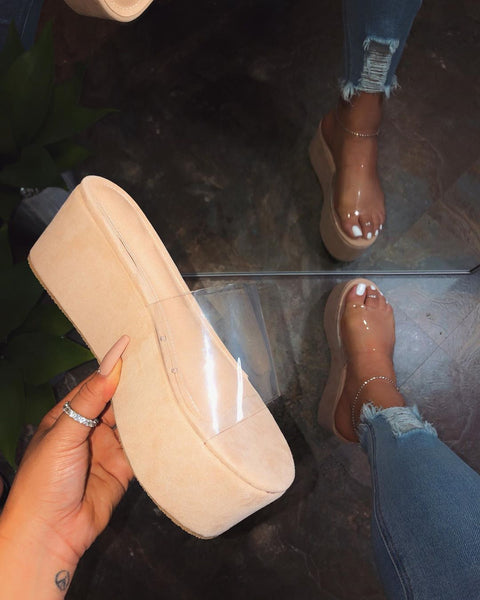 transparent sandals - Boujee Boutique Incorporated