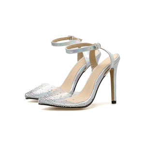 Rhinestone  Transparent Stilettos - Boujee Boutique Incorporated