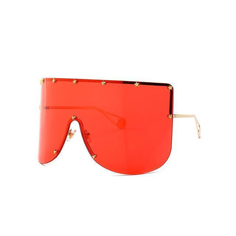 Elaiza Oversized Sunglasses - Gold Red - Boujee Boutique Incorporated