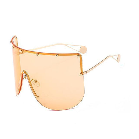Elaiza Oversized Sunglasses - Orange - Boujee Boutique Incorporated