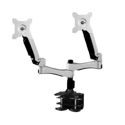 The Dual Monitor Articulating Clamp Mount