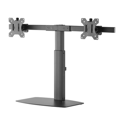Dual Screen Pneumatic Vertical Lift Monitor Stand | Amer Mounts 2EZH