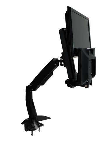 Sit-Stand Spring Arm Desk Mount Computer Workstation Combo System - AMR1ACWS