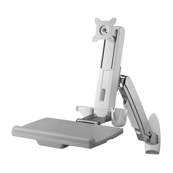 Sit Stand Combo Workstation Wall Mount System - AMR1AWS