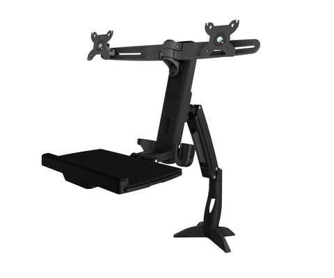 AMR2ACWS | Dual Sit Stand Workstation Clamp Mount