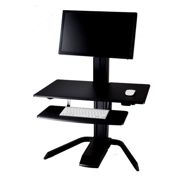 Sit Stand Workstation Mast Stand Mount with Keyboard, Mouse and Monitor height adjustment- AMRCP100