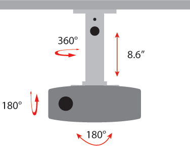 The Drop Ceiling Projector Mount Amrdcp100kit