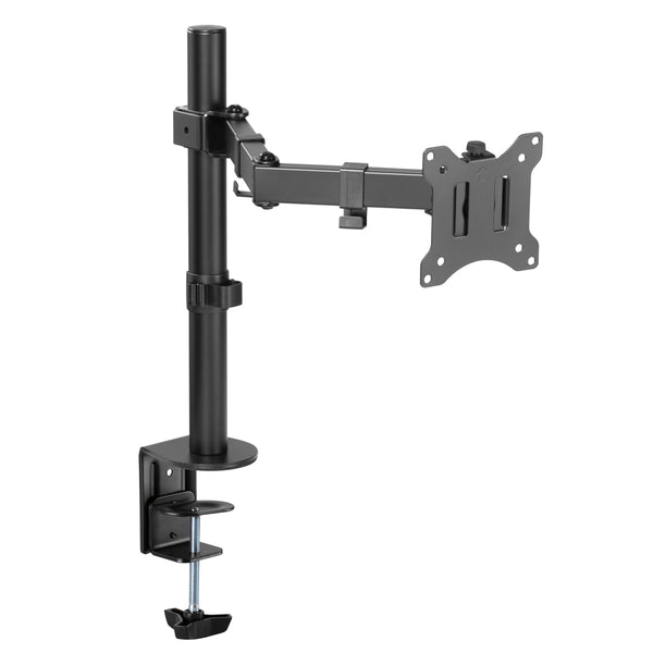 "Amer Mounting EZCLAMP | Single Monitor Economical Articulating Arm | Supports 17"" - 32"" Monitors"