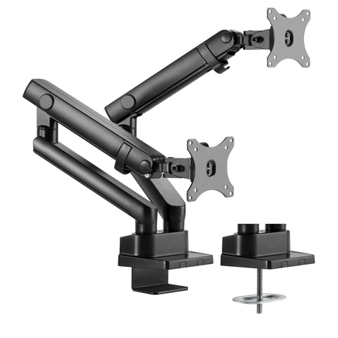 HYDRA2B Amer Mounts Dual Monitor Desk Mount Clamp or Grommet
