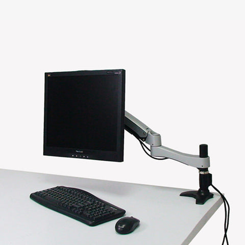Long Single Articulating Monitor Arm with Grommet Mount