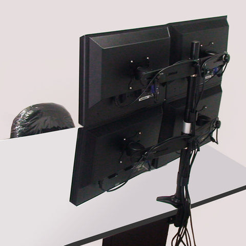 Quad Monitor Clamp Mount
