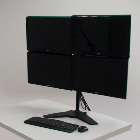 Quad Monitor Stand Mount Max 32""