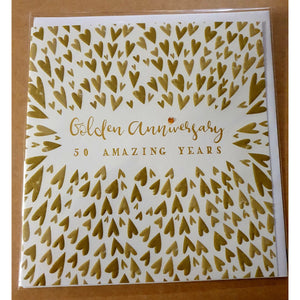 Golden Anniversary Card - 50 amazing years-Nook & Cranny Gift Store-2019 National Gift Store Of The Year-Ireland-Gift Shop
