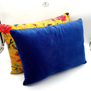 Plush Blue Velveteen Cushion-Nook & Cranny Gift Store-2019 National Gift Store Of The Year-Ireland-Gift Shop