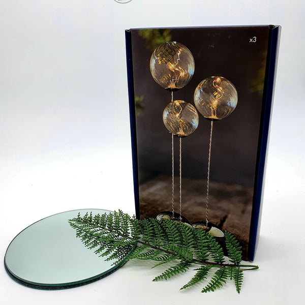 'Wave' - A handmade glass trio piece (clear) - A striking piece of Danish design (W/Remote control)-Nook & Cranny Gift Store-2019 National Gift Store Of The Year-Ireland-Gift Shop