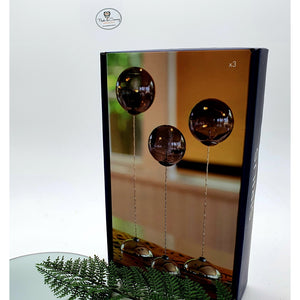 'Pure grey' - A handmade glass trio piece - A striking piece of Danish design (W/Remote control)-Nook & Cranny Gift Store-2019 National Gift Store Of The Year-Ireland-Gift Shop