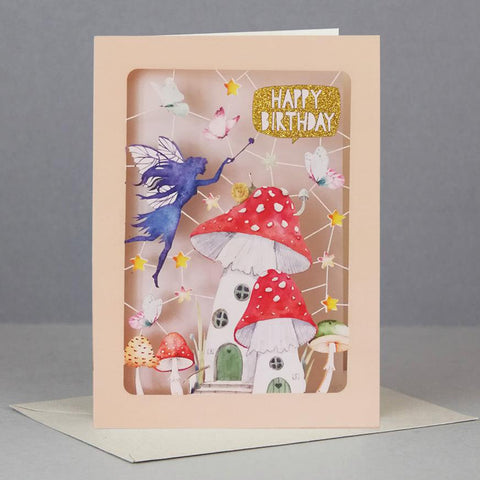 3D Pop Up Card - Fairy & Toadstool Birthday-Nook & Cranny Gift Store-2019 National Gift Store Of The Year-Ireland-Gift Shop