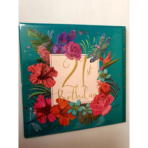 21st Birthday Flowers - Card-Nook and Cranny - 2019 REI National Gift Store of the Year