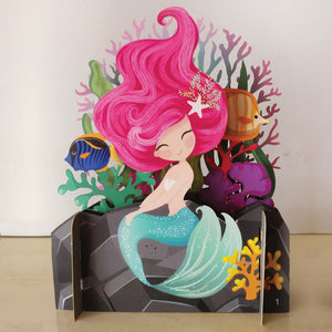 3D Pop Up Card - Mermaid Scene-Nook & Cranny Gift Store-2019 National Gift Store Of The Year-Ireland-Gift Shop