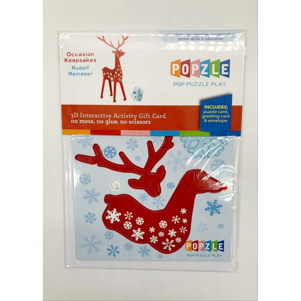 3D Christmas Keepsake Card - Reindeer-Nook & Cranny Gift Store-2019 National Gift Store Of The Year-Ireland-Gift Shop