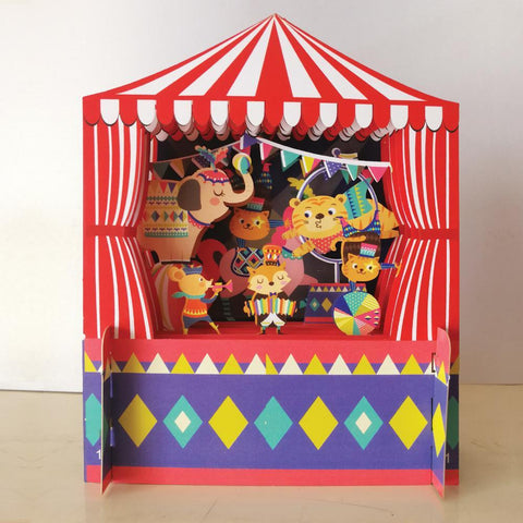 3D Pop Up Card - Circus scene-Nook & Cranny Gift Store-2019 National Gift Store Of The Year-Ireland-Gift Shop