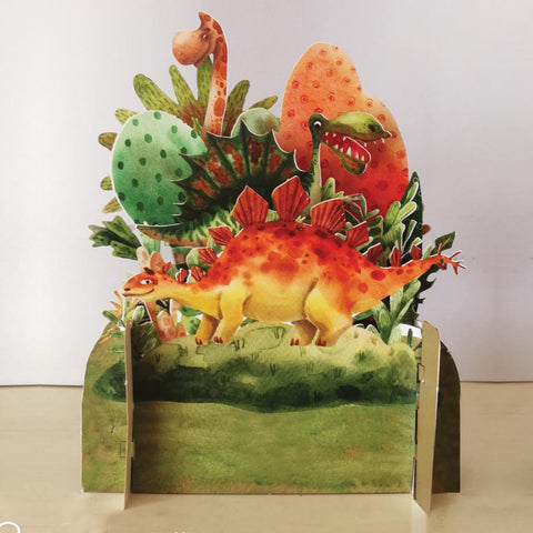 3D Pop Up Card - Dinosaur-Nook & Cranny Gift Store-2019 National Gift Store Of The Year-Ireland-Gift Shop