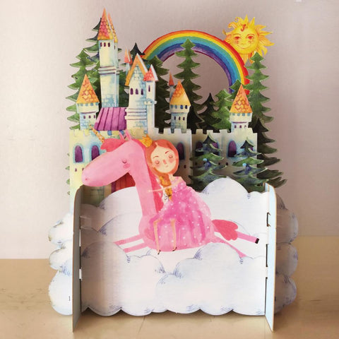 3D Pop Up Card - Unicorn Princess-Nook and Cranny - 2019 REI National Gift Store of the Year