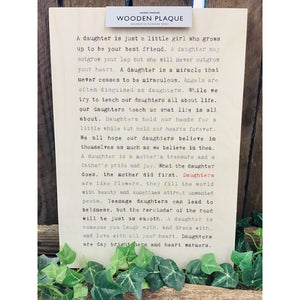 A4 Wise Words Wooden Plaque - Daughters-Nook and Cranny - 2019 REI National Gift Store of the Year