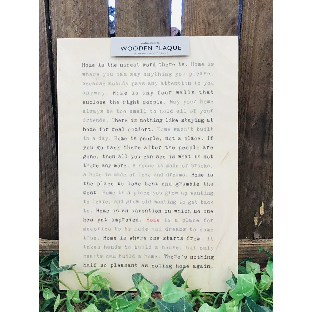 A4 Wise Words Wooden Plaque - Home-Nook and Cranny - 2019 REI National Gift Store of the Year