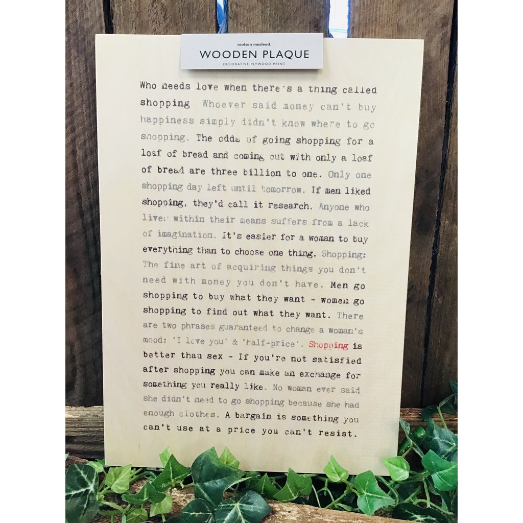 A4 Wise Words Wooden Plaque - Shopping-Nook and Cranny - 2019 REI National Gift Store of the Year
