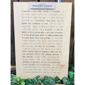 A4 Wise Words Wooden Plaque - Son-Nook and Cranny - 2019 REI National Gift Store of the Year
