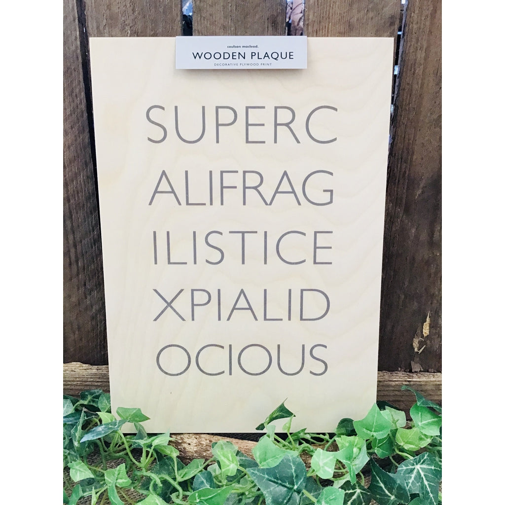A4 Wooden Plaque - Supercali-Nook and Cranny - 2019 REI National Gift Store of the Year