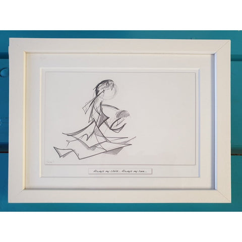 'Always My Child' - Framed Irish Art Print-Nook and Cranny - 2019 REI National Gift Store of the Year