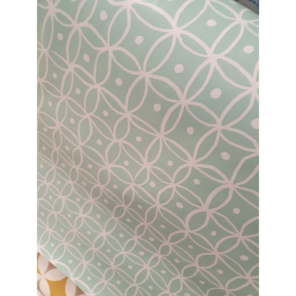 Aqua with white dots - Oil Cloth ( x 1 metre length x 1.4 mtr width)-Nook and Cranny - 2019 REI National Gift Store of the Year