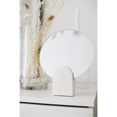 Archie Mirror - White Marble style-Nook and Cranny - 2019 REI National Gift Store of the Year