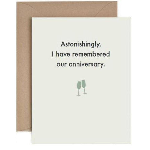 Astonishingly, I have remembered our anniversary - card-Nook and Cranny - 2019 REI National Gift Store of the Year