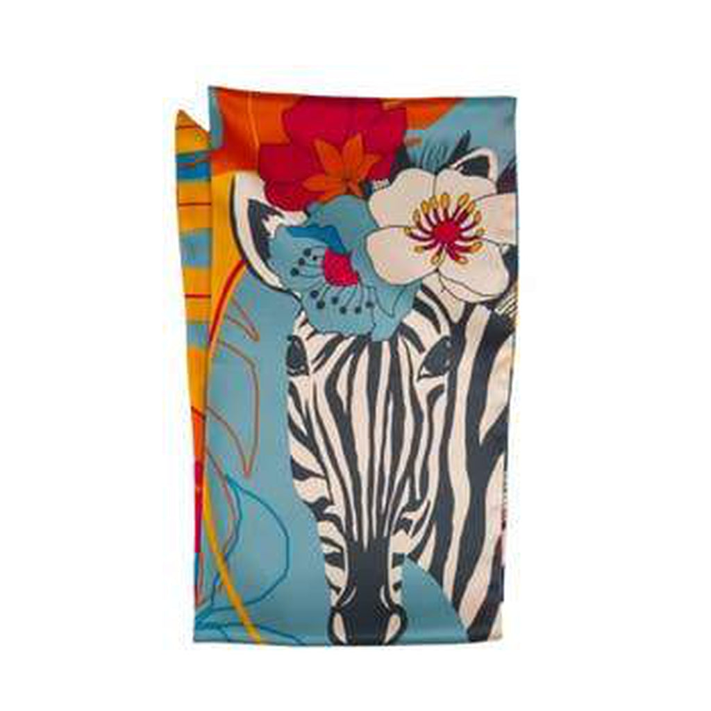Floral Zebra Neck Scarf-Nook & Cranny Gift Store-2019 National Gift Store Of The Year-Ireland-Gift Shop