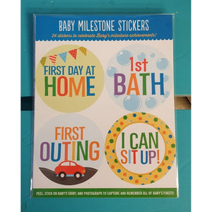 Baby Milestone Stickers - A fun gift for a baby shower or arrival of new born. -Nook and Cranny - 2019 REI National Gift Store of the Year