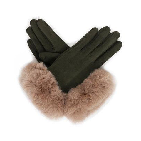 Bettina Faux Suede Gloves in Sage/Stone-Nook and Cranny - 2019 REI National Gift Store of the Year