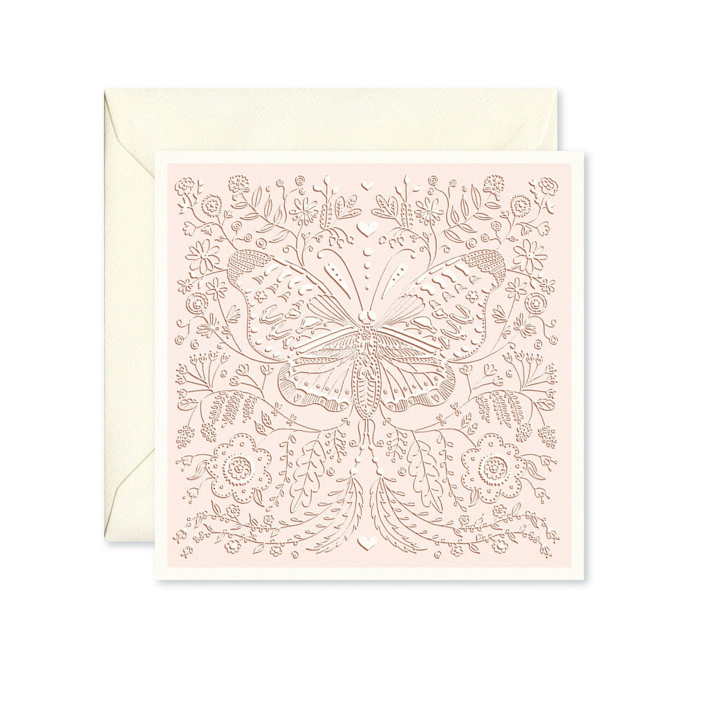 Blush Pink Butterfly Card-Nook and Cranny - 2019 REI National Gift Store of the Year