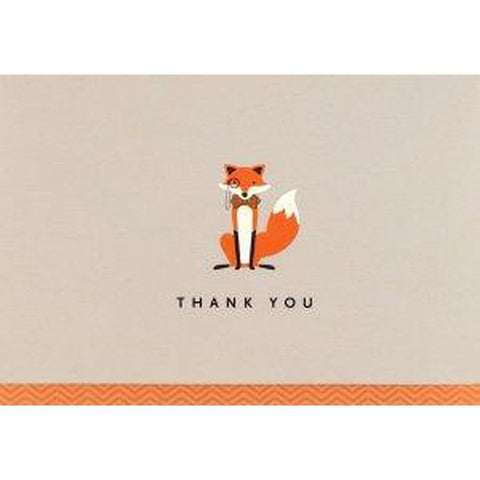 Box Set 14 THANK YOU Note Cards & 15 Envelopes - Dapper Fox-Nook and Cranny - 2019 REI National Gift Store of the Year