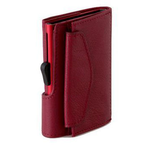 C-Secure Genuine Leather Card Holder with Coin Pouch & RFID (skimsafe) Protection-Nook and Cranny - 2019 REI National Gift Store of the Year